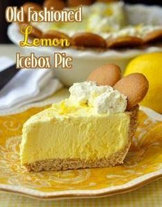 Old Fashioned Lemon Icebox Pie - 250 Lemon Recipes - RecipePin.com