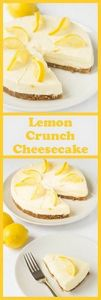 Lemon crunch cheesecake is a delic - 250 Lemon Recipes - RecipePin.com