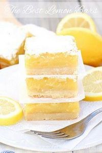 The Best Lemon Bars | With a butte - 250 Lemon Recipes - RecipePin.com