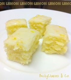 lemon brownies - 250 Lemon Recipes - RecipePin.com
