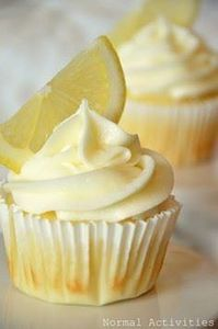 Limoncello Cupcakes: lemon cupcake - 250 Lemon Recipes - RecipePin.com