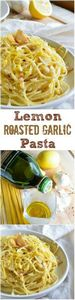 Lemon Garlic Pasta - 250 Lemon Recipes - RecipePin.com