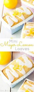 These mini Meyer Lemon Loaves are  - 250 Lemon Recipes - RecipePin.com
