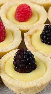 Lemon Tartlets with Lemon Curd - P - 250 Lemon Recipes - RecipePin.com