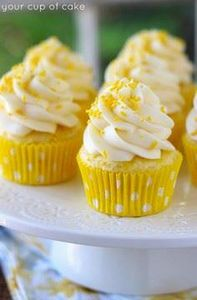 Lemon Cream Cheese Cupcakes - 250 Lemon Recipes - RecipePin.com