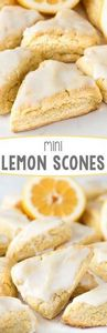 Mini Lemon Scones - 250 Lemon Recipes - RecipePin.com