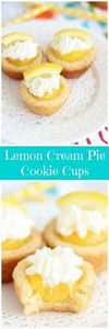 Cake mix sugar cookie cups, filled - 250 Lemon Recipes - RecipePin.com