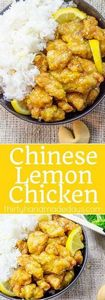 Classic Lemon Chicken with crispy  - 250 Lemon Recipes - RecipePin.com