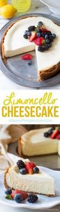 Silky Limoncello Cheesecake with B - 250 Lemon Recipes - RecipePin.com