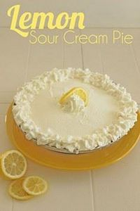 Yummy lemon sour cream pie! This i - 250 Lemon Recipes - RecipePin.com