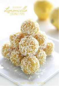 Limoncello Coconut Pops {raw, vega - 250 Lemon Recipes - RecipePin.com