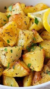 Easy Lemon Herb Roasted Potatoes ~ - 250 Lemon Recipes - RecipePin.com
