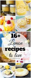 16+ Lemon Recipes to make and love - 250 Lemon Recipes - RecipePin.com