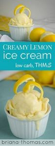 Creamy Lemon Ice Cream...it's THM: - 250 Lemon Recipes - RecipePin.com