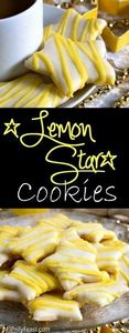 Lemon Star Cookies - Tender, sweet - 250 Lemon Recipes - RecipePin.com