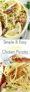 Easy Lemon Chicken Piccata - 250 Lemon Recipes - RecipePin.com