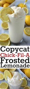 CopyCat Chick-fil-A Frosted Lemona - 250 Lemon Recipes - RecipePin.com
