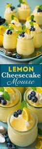 Lemon Cheesecake Mousse - the ULTI - 250 Lemon Recipes - RecipePin.com