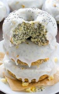 Lemon Poppy Seed Donuts - these br - 250 Lemon Recipes - RecipePin.com