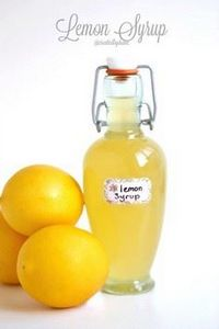 Homemade lemon syrup is quick and  - 250 Lemon Recipes - RecipePin.com