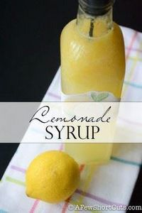 Lemonade Syrup - 250 Lemon Recipes - RecipePin.com