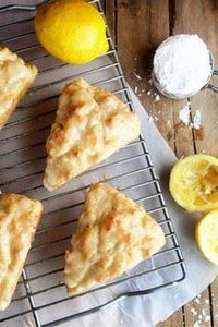 Lemon Cream Scones - 250 Lemon Recipes - RecipePin.com