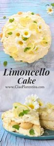 Limoncello Cake | CiaoFlorentina.c - 250 Lemon Recipes - RecipePin.com