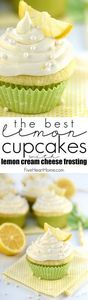 The BEST Lemon Cupcakes ~ start wi - 250 Lemon Recipes - RecipePin.com