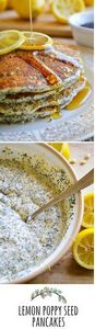 Lemon Poppy Seed Pancakes - 250 Lemon Recipes - RecipePin.com