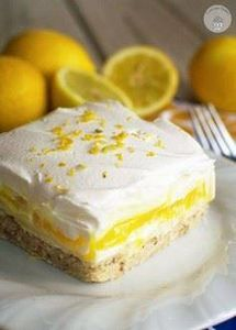 Lemon Lush Dessert - This light an - 250 Lemon Recipes - RecipePin.com