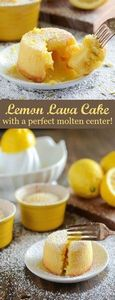Lemon Lava Cake! It's sweet, zesty - 250 Lemon Recipes - RecipePin.com