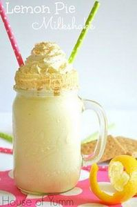 Lemon pie milkshake! Only three in - 250 Lemon Recipes - RecipePin.com
