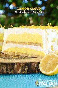 Lemon Cloud No-Bake Ice Box Cake i - 250 Lemon Recipes - RecipePin.com