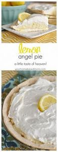 Lemon Angel Pie is a little taste  - 250 Lemon Recipes - RecipePin.com