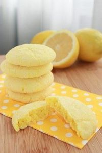 lemon sunshine cookies - The sour  - 250 Lemon Recipes - RecipePin.com
