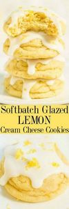 Softbatch Glazed Lemon Cream Chees - 250 Lemon Recipes - RecipePin.com