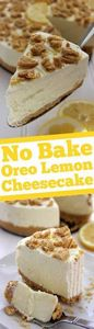 No Bake Oreo Lemon Cheesecake- Sup - 250 Lemon Recipes - RecipePin.com