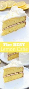 THE BEST homemade Lemon Cake with  - 250 Lemon Recipes - RecipePin.com