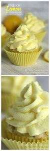 Fresh Lemon Buttercream Frosting - 250 Lemon Recipes - RecipePin.com