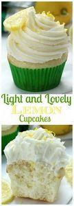 Light and Lovely Lemon Cupcakes -  - 250 Lemon Recipes - RecipePin.com