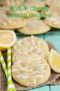 Chewy Soft Lemon Cookies - 250 Lemon Recipes - RecipePin.com