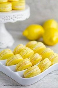 Lemon French Macarons - 250 Lemon Recipes - RecipePin.com