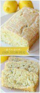 Glazed Lemon Zucchini Bread recipe - 250 Lemon Recipes - RecipePin.com