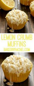 Lemon crumb muffins - 250 Lemon Recipes - RecipePin.com