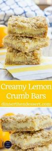 Easy Creamy Lemon Crumb Bars with  - 250 Lemon Recipes - RecipePin.com