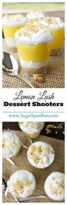 Lemon Lush Dessert Shooters--so ea - 250 Lemon Recipes - RecipePin.com
