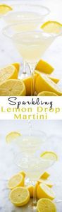 Sparkling Lemon Drop Martinis - 250 Lemon Recipes - RecipePin.com