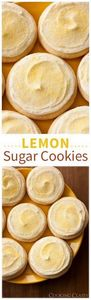 Lemon Sugar Cookies - 250 Lemon Recipes - RecipePin.com