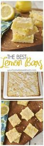 These truly are the best lemon bar - 250 Lemon Recipes - RecipePin.com