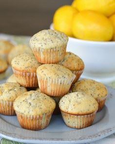 These Lemon Poppy Seed Mini Muffin - 250 Lemon Recipes - RecipePin.com